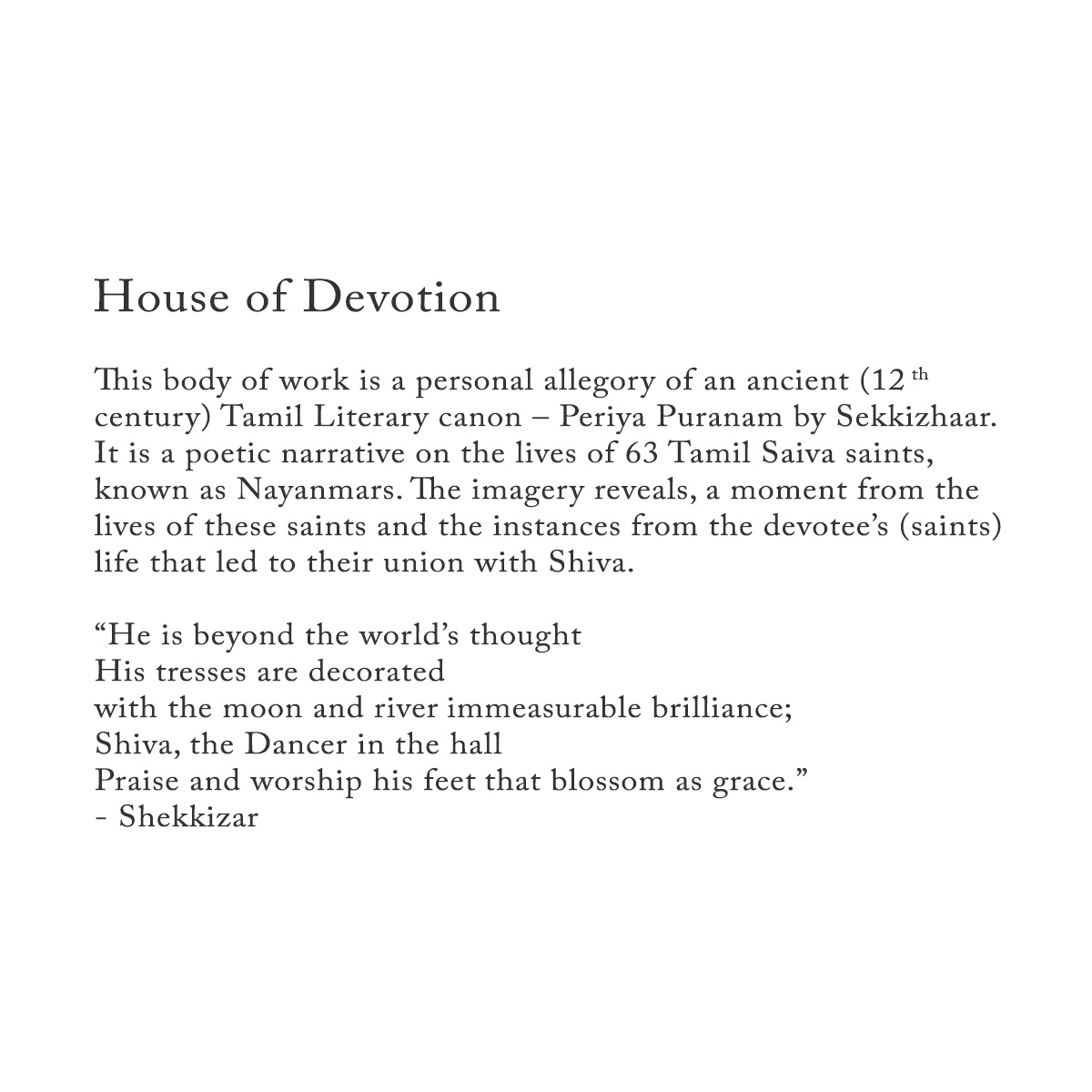 House of Devotion