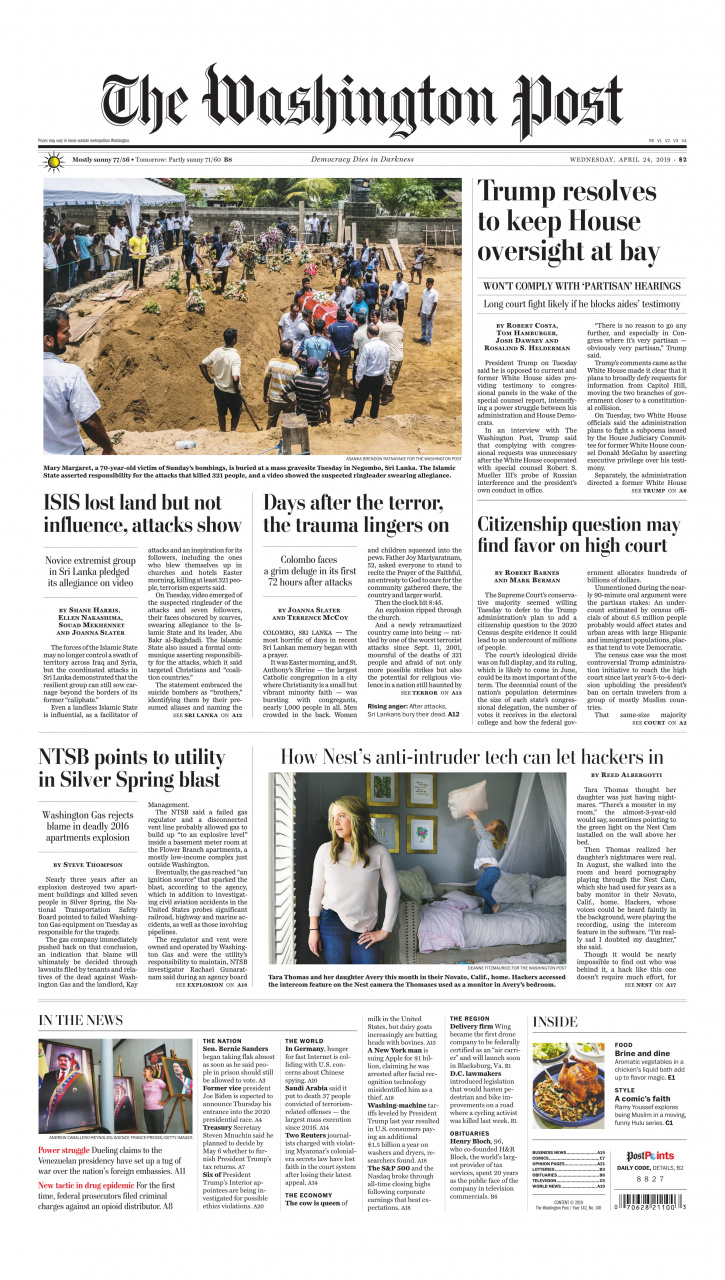 Washington Post Sri Lanka front page  -1.jpg