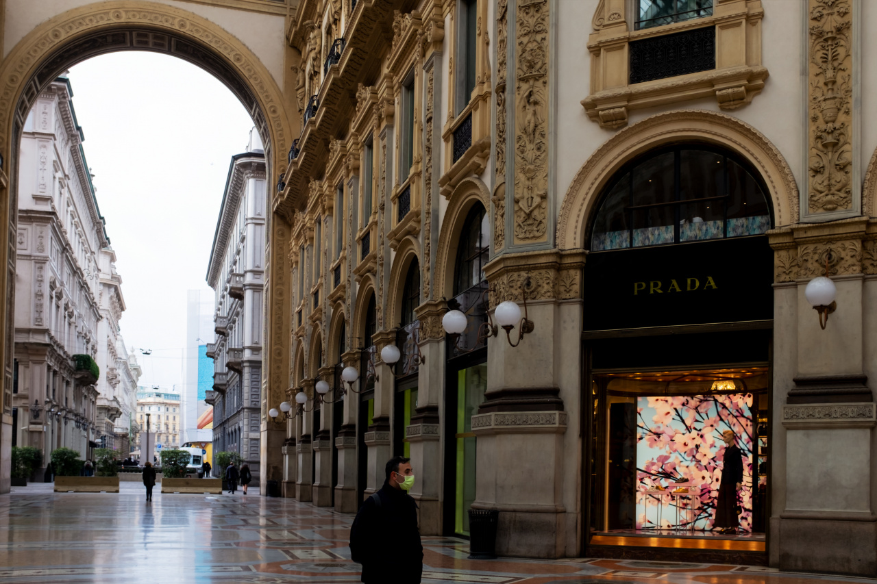 Milan : The empty of city center