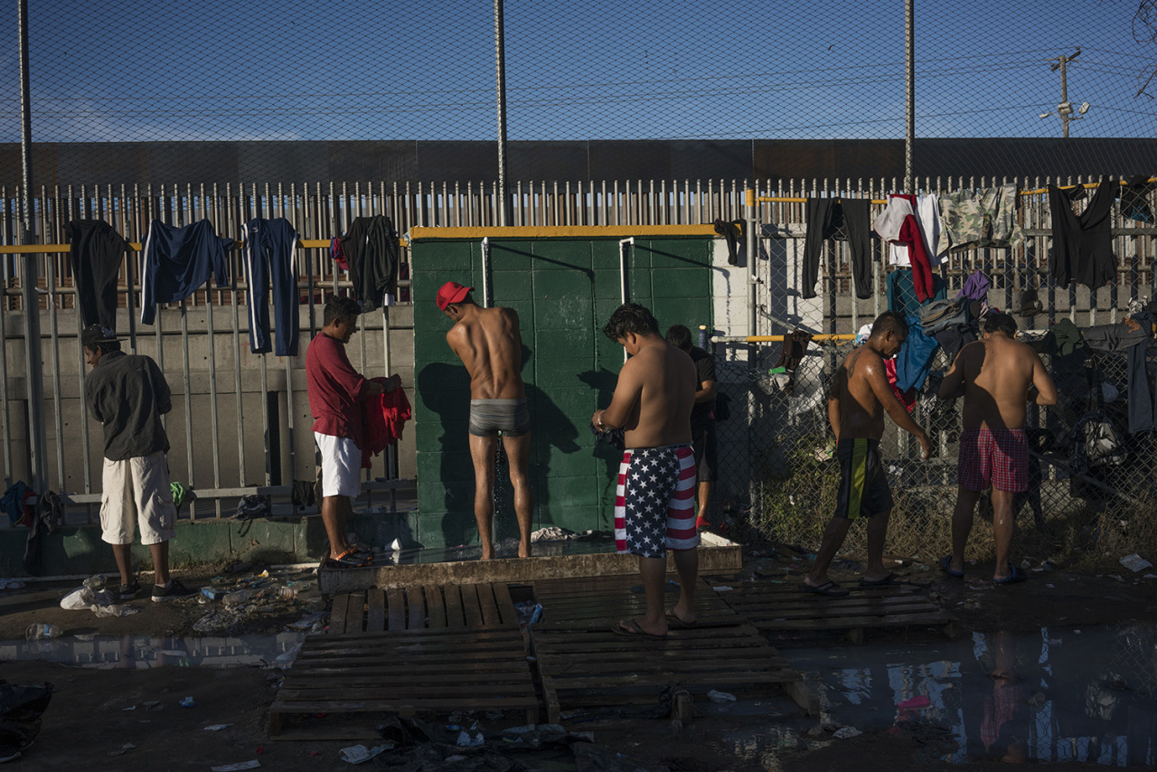 Migrants shelter in Tijuana, México.