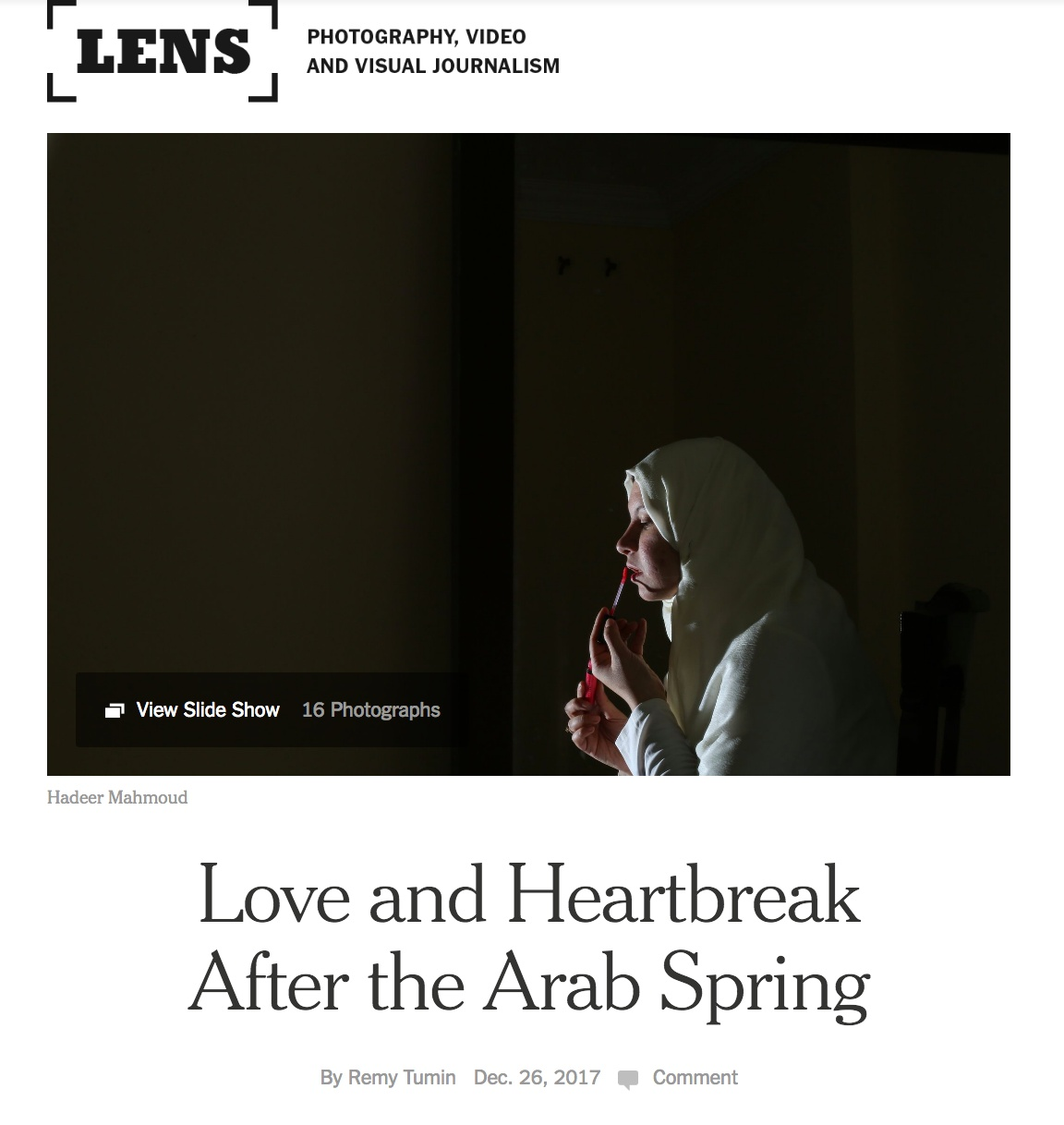 my story on the New York Times
