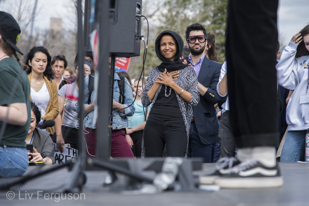 Rep. Ilhan Omar at the Youth Climate Strike DC