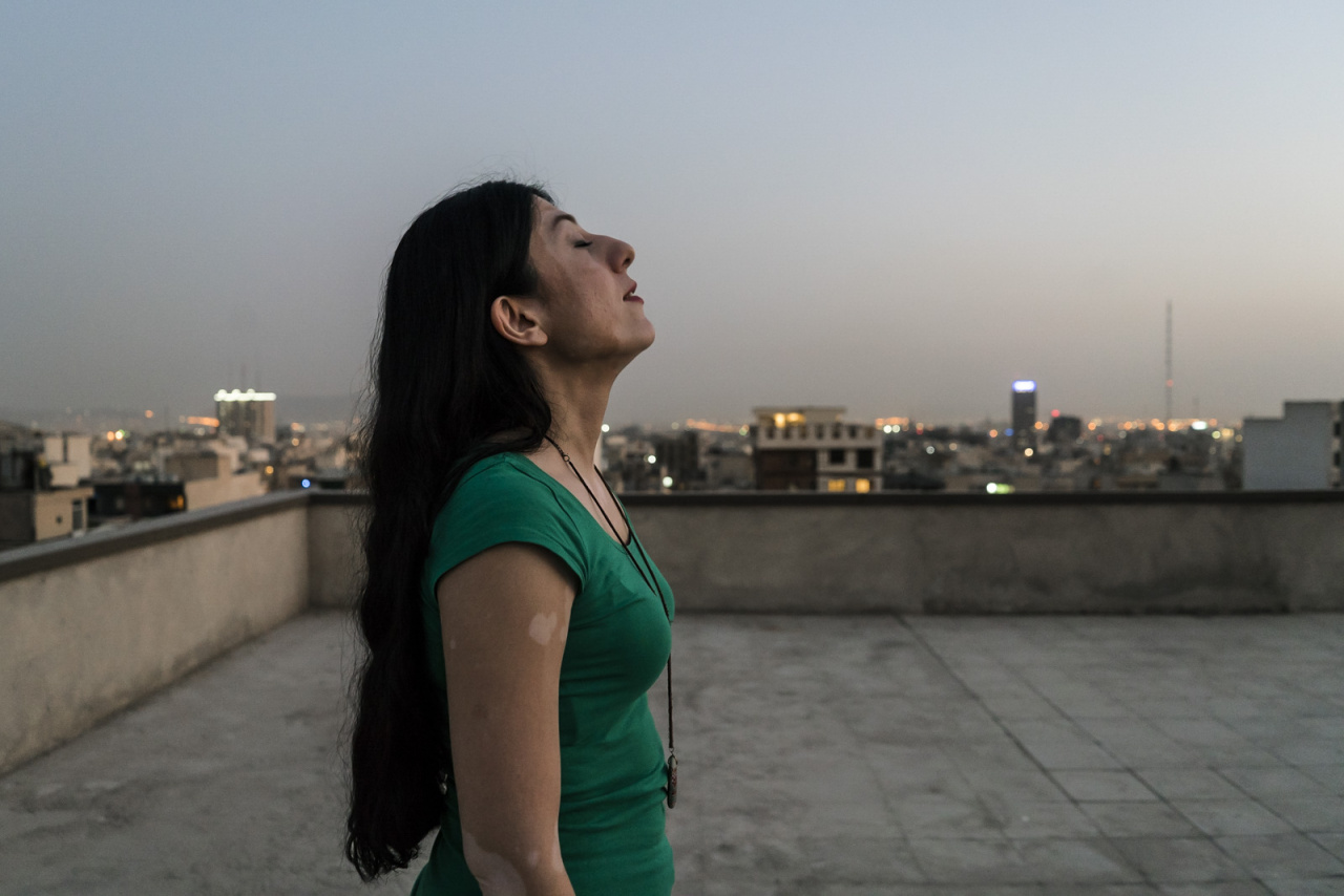 Sayeh on rooftop